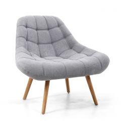 Shankar Shell Light Grey Armchair - Vibrant Chenille Fabric