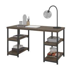 Dorel Ashlar Pedestal Desk Home Office Computer Workstation Weathered Oak