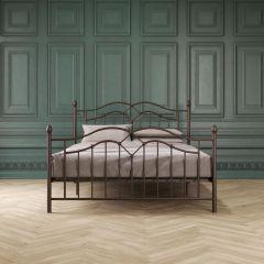 Tokyo Metal Bed 4ft6 Double UK 135 x 190 cm Bronze By Dorel Home