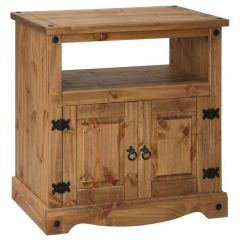Corona TV Cabinet with 2 Doors - Mexican Pine Premium Range