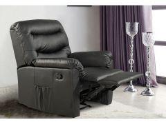 Birlea Regency Recliner Chair - Black Faux Leather - Reclining Arm Chair