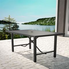 COSCO Outdoor Capitol Hill Patio Garden Dining Table Steel Charcoal