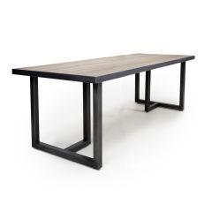 Shankar Bergen 180cm x 90cm Large Industrial Steel Frame Dining Table