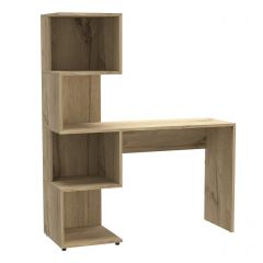 Core Brooklyn Bleached Pine Desk with Tall Shelving Unit