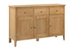 Julian Bowen Cotswold Solid Oak Country Style 3 Door, 3 Drawer Sideboard