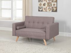 Birlea Ethan Medium Size Sofa Bed - Contemporary Design - Grey Fabric
