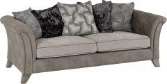 Seconique Grace 3 Seater Sofa Silver & Grey Fabric