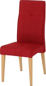 Seconique Pair Of Lucas Dining Room Chairs  Red Fabric