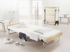 JAY-BE J-Bed Compact Folding Metal Guest Bed - 3ft Single + Memory Foam Mattress