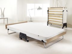 JAY-BE J-Bed Compact Folding Metal Guest Bed - 4ft Small Double + Airflow Mattress