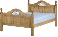 Seconique Corona Mexican Pine 4ft6 High End Scroll Bed