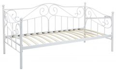 Madison Metal Day Bed, Guest Bed - White