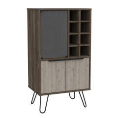 Core Nevada Smoked Oak 3 Door Wine Cabinet