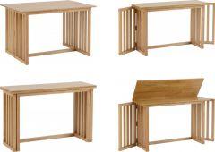 Seconique Richmond Solid Wood Foldaway Dining Table - Oak Varnish