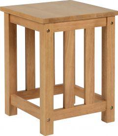 Seconique Pair Of Richmond Dining Room Bar Stools  Oak Varnish