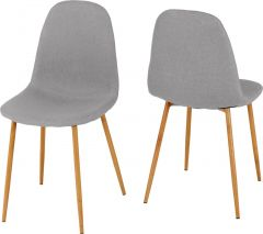 Seconique Set Of 4 Barley Dining Room Chairs  Grey Fabric