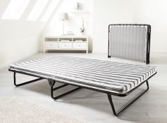 JAY-BE Value Compact Folding Metal Guest Bed - 4ft Small Double + Airflow Mattress
