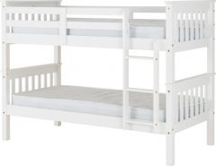 Seconique Neptune 3ft Bunk Bed - White