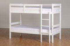 Seconique Panama 3ft Wooden Bunk Bed - White