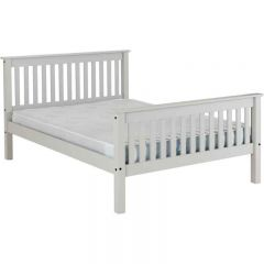 Seconique Monaco 4ft6 Double Bed in Grey