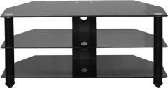Seconique Bromley 3 Tier  Black Glass TV Stand