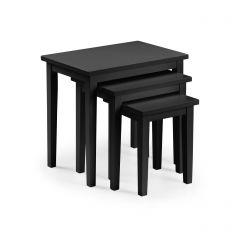 Julian Bowen Cleo Black Nest of 3 Tables