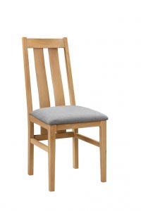 Julian Bowen Cotswold Solid Oak Dining Chair Padded Grey Seat