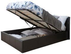 Caspian Ottoman Storage Bed - End Lift - Black - 3ft, 4ft, 4ft6 & 5ft