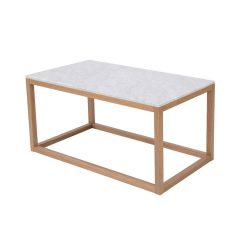 LPD Harlow Real Marble & Solid Oak Coffee Table