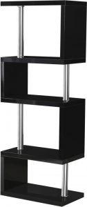 Charisma Modern Living Room Furniture Black Gloss - 5 Shelf Unit