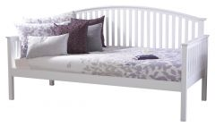 Madrid Solid Wood 3ft Single Guest Day Bed - White