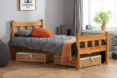 Birlea Miami 3ft Single Solid Wood Pine Bed