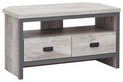 Boston Grey Urban Design Living Room Furniture - Corner TV Unit