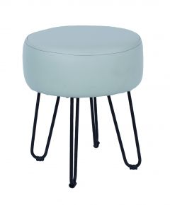 Core Occasional Grey Faux Leather Round Stool