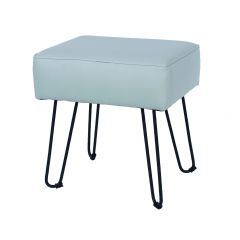 Core Occasional Grey Faux Leather Rectangular Stool