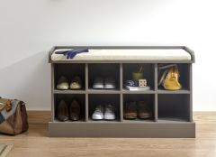 Kempton Hallway Storage Bench - Grey, Oak or White