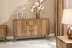 Orleans 2 Door 3 Drawer Mango Wood Effect Sideboard