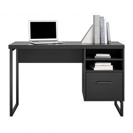 Dorel Candon Desk Home Office Computer Workstation With Filing Drawer Black