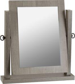 Seconique Lisbon Dressing Table Swivel Mirror in Black