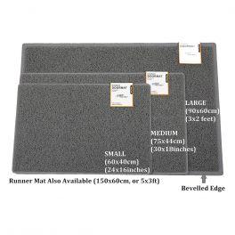 Oseasons® Plain Robust & Tough Vinyl Grey Doormats - 4 Sizes