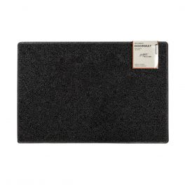 Oseasons® Plain Robust & Tough Vinyl Black Doormats - 4 Sizes