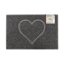 Oseasons® Heart Embossed Robust & Tough Vinyl Grey Doormats - 4 Sizes