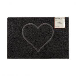 Oseasons® Heart Embossed Robust & Tough Vinyl Black Doormats - 4 Sizes