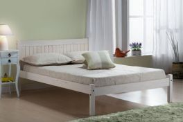 Birlea Rio Solid Pine White Bed - 3ft Single, 4ft Small Double, 4ft6 Double