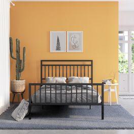 Jackson Moden Metal Bed 4ft6 Double 5ft Kingsize Black By Dorel Home