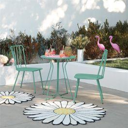 Novogratz Heidi Poolside Gossip Collection 3 Piece Outdoor Bistro Set Turquoise