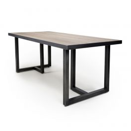 Shankar Bergen 160cm x 90cm Medium Industrial Steel Frame Dining Table