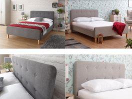 Ashbourne Grey Hopsack Fabric Bedstead - 3ft Single, 4ft6 Double, 5ft Kingsize