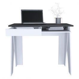 Core Dallas White & Carbon Grey Home Office Desk
