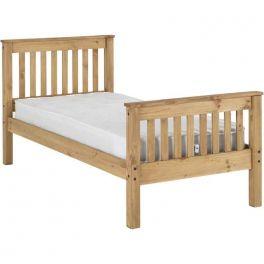 Seconique Monaco 3ft Single Bed - Distressed Pine